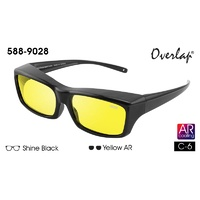 Ideal Polorized Fit-Over Sunglasses 588-9028  Shine Black/Yellow