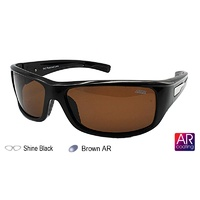 Ideal Polorized Sunglasses Sports Wrap 8901  Shine Black/Brown