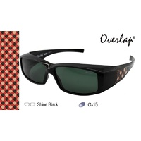 Ideal Polorized Fit-Over Sunglasses 8931 Shine Black/Dark Green Shine Black/Dark Green