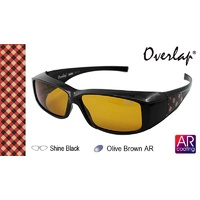 Ideal Polorized Fit-Over Sunglasses 8931 Shine Black/Olive Brown Shine Black/Olive Brown