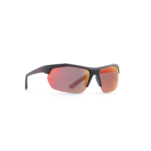 INVU Eyewear Matt Black/Ultra polorise Red M Lens