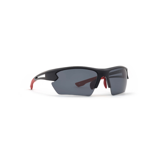 INVU Eyewear Black/Red/Ultra Polorised Mirror Solid Grey