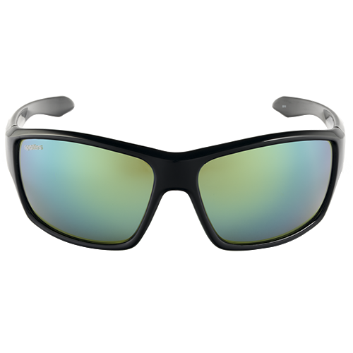 Spotters Gloss Black/ Nexus Emerald Glass Polarised Lenses,86.5% Light block,100 glare block